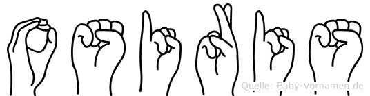 Osiris im Fingeralphabet der Deutschen Gebärdensprache