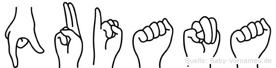 Quiana in Fingersprache für Gehörlose