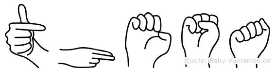 Thesa in Fingersprache für Gehörlose