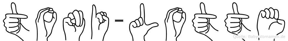 Toni-Lotte im Fingeralphabet der Deutschen Gebärdensprache