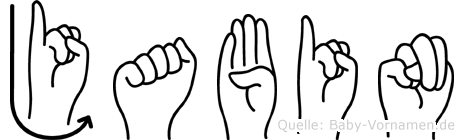 Jabin im Fingeralphabet der Deutschen Gebärdensprache