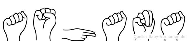 Ashana in Fingersprache für Gehörlose