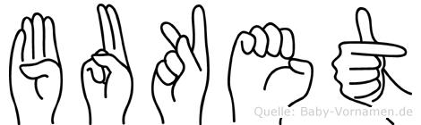 Buket in Fingersprache für Gehörlose