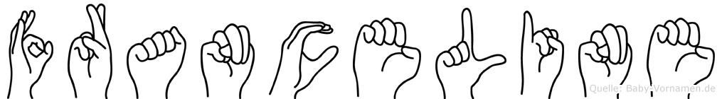 Franceline im Fingeralphabet der Deutschen Gebärdensprache
