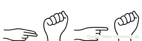 Haga in Fingersprache für Gehörlose
