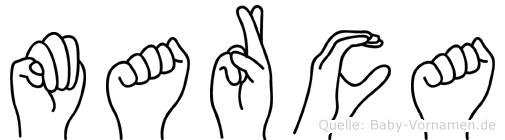 Marca in Fingersprache für Gehörlose
