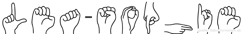 Lea-Sophie im Fingeralphabet der Deutschen Gebärdensprache