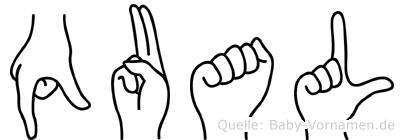 Qual in Fingersprache für Gehörlose