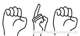 Ede in Fingersprache für Gehörlose