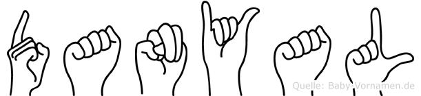 Danyal im Fingeralphabet der Deutschen Gebärdensprache
