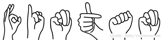 Fintan in Fingersprache für Gehörlose