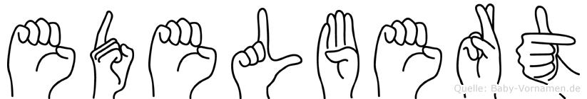 Edelbert im Fingeralphabet der Deutschen Gebärdensprache