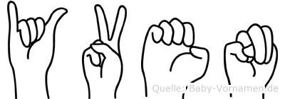 Yven in Fingersprache für Gehörlose