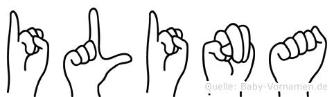 Ilina im Fingeralphabet der Deutschen Gebärdensprache