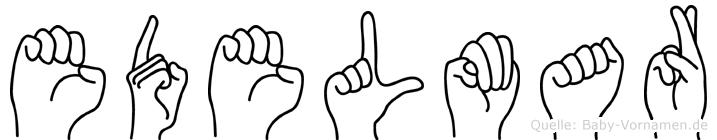 Edelmar im Fingeralphabet der Deutschen Gebärdensprache