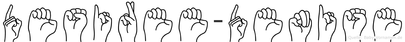 Desiree-Denise im Fingeralphabet der Deutschen Gebärdensprache
