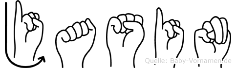 Jasin im Fingeralphabet der Deutschen Gebärdensprache