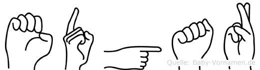 Edgar im Fingeralphabet der Deutschen Gebärdensprache