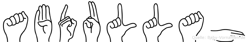 Abdullah in Fingersprache für Gehörlose
