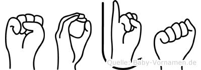 Soja in Fingersprache für Gehörlose