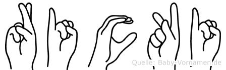 Ricki in Fingersprache für Gehörlose