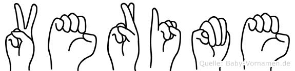 Verime in Fingersprache für Gehörlose