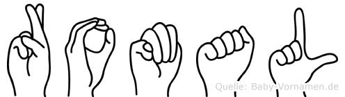 Romal im Fingeralphabet der Deutschen Gebärdensprache