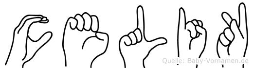 Celik im Fingeralphabet der Deutschen Gebärdensprache