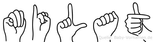 Milat im Fingeralphabet der Deutschen Gebärdensprache