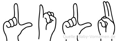 Lilu in Fingersprache für Gehörlose