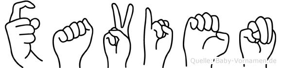 Xavien in Fingersprache für Gehörlose