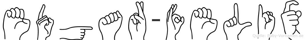 Edgar-Felix im Fingeralphabet der Deutschen Gebärdensprache