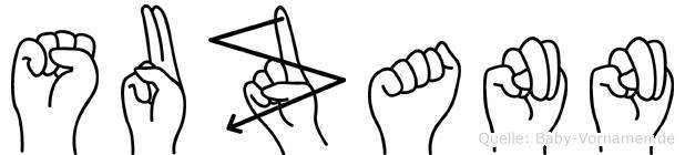 Suzann im Fingeralphabet der Deutschen Gebärdensprache
