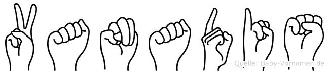 Vanadis in Fingersprache für Gehörlose