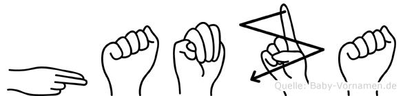 Hamza in Fingersprache für Gehörlose