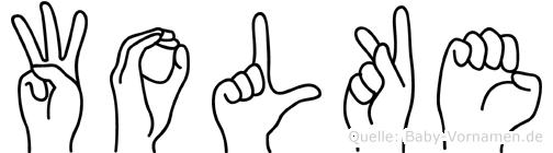 Wolke im Fingeralphabet der Deutschen Gebärdensprache