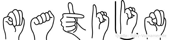 Matijn in Fingersprache für Gehörlose