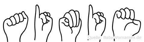 Aimie in Fingersprache für Gehörlose