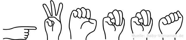 Gwenna im Fingeralphabet der Deutschen Gebärdensprache