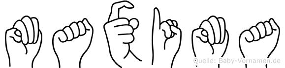 Maxima in Fingersprache für Gehörlose