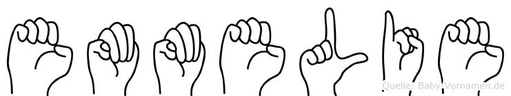 Emmelie im Fingeralphabet der Deutschen Gebärdensprache
