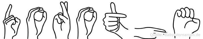 Dorothe in Fingersprache für Gehörlose