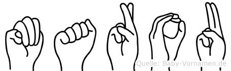 Marou im Fingeralphabet der Deutschen Gebärdensprache