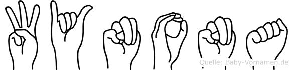 Wynona in Fingersprache für Gehörlose