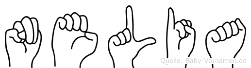 Nelia in Fingersprache für Gehörlose