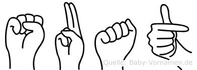 Suat im Fingeralphabet der Deutschen Gebärdensprache
