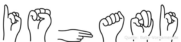 Ishani im Fingeralphabet der Deutschen Gebärdensprache