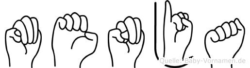Menja im Fingeralphabet der Deutschen Gebärdensprache