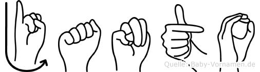 Janto in Fingersprache für Gehörlose
