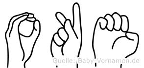 Oke im Fingeralphabet der Deutschen Gebärdensprache